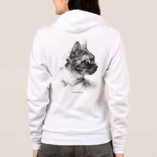 Stella the Grey Cat Hoodie