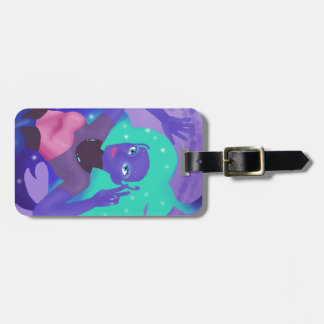 stellar alien queen luggage tag