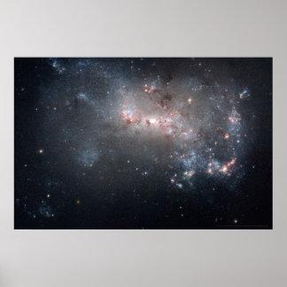 Stellar Fireworks Ablaze in Galaxy NGC 4449 30x20 Poster
