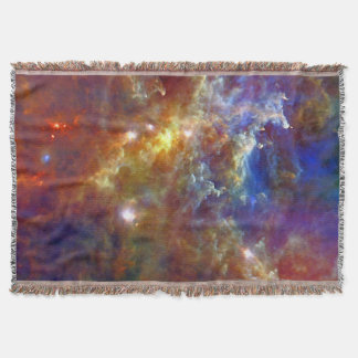 Stellar Nursery in Rosette Nebula Throw Blanket