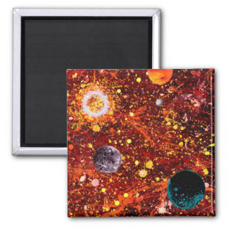 Stellar Nursery (outer space theme) ~ Square Magnet