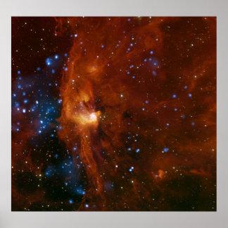 Stellar Star Birth RCW 108 NASA Poster