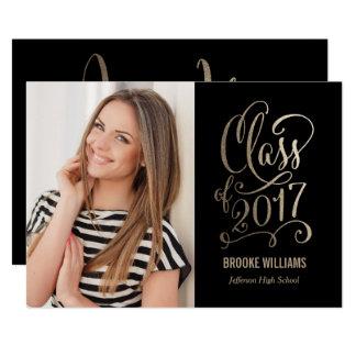 Stellar Year Editable Color Graduation Card