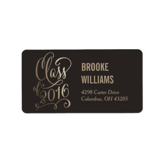 Stellar Year Editable Color Graduation Label