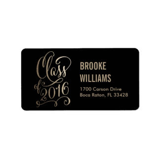 Stellar Year Editable Color Graduation Labels