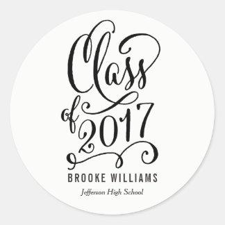 Stellar Year EDITABLE COLOR Graduation Stickers
