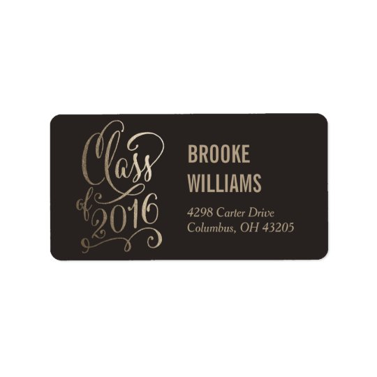 Stellar Year Editable Colour Graduation Label