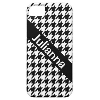 StellaRoot Houndstooth Black Vintage iPhone 5 Covers