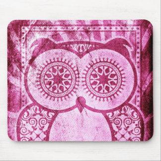StellaRoot Pink Jeans Hootie Owl Mouse Pad