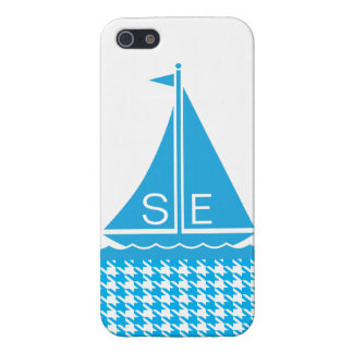 StellaRoot Preppy Sailboat Houndstooth Customize iPhone 5/5S Cases