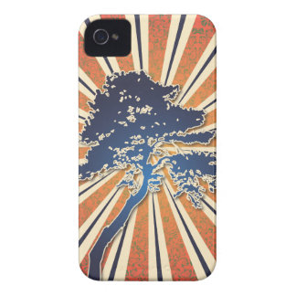 StellaRoot Summer Sun Damask Rays African Tree iPhone 4 Covers