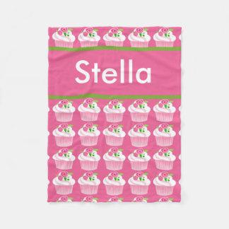 Stella's Personalized Cupcake Blanket