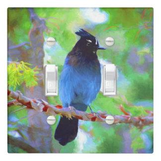Steller's Jay 2 Painting - Original Bird Art Light Switch Cover
