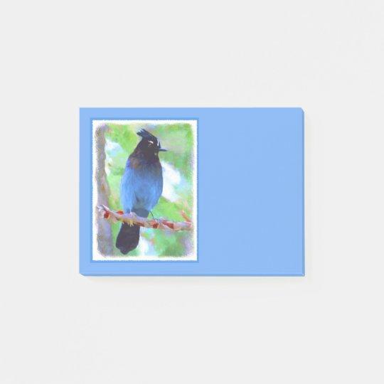Steller's Jay 2 Painting - Original Bird Art Post-it Notes
