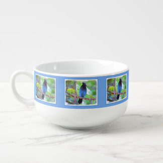 Steller's Jay 2 Painting - Original Bird Art Soup Mug