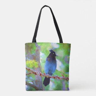 Steller's Jay 2 Painting - Original Bird Art Tote Bag