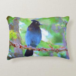 Steller's Jay Decorative Pillow