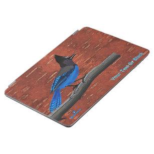Steller's Jay On Inner Birch Bark iPad Air Cover