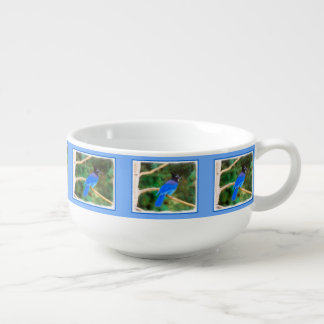 Steller's Jay Painting - Original Bird Art Soup Mug