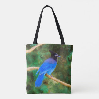 Steller's Jay Painting - Original Bird Art Tote Bag