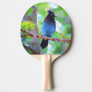 Steller's Jay Ping Pong Paddle