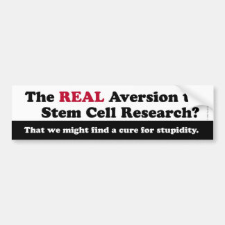 Stem Cell Research Bumpersticker Bumper Sticker