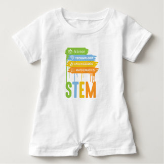 STEM Science Technology Engineering Math School Baby Romper
