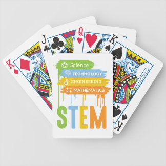 STEM Science Technology Engineering Math School Bicycle Playing Cards