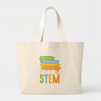 STEM Science Technology Engineering Math School Large Tote Bag