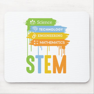 STEM Science Technology Engineering Math School Mouse Pad