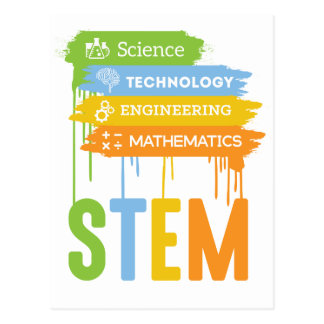 STEM Science Technology Engineering Math School Postcard