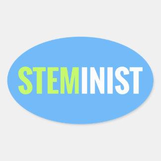 STEMinist Sticker - Oval