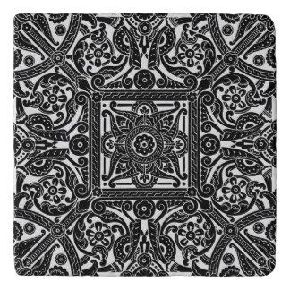Stencil design for a ceiling, 1870 trivet