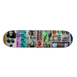 Stencil Mayhem Skateboard Deck