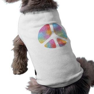 Stencil Peace II Dog T-shirt