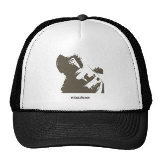 Stencil Space Chimp Trucker Hat