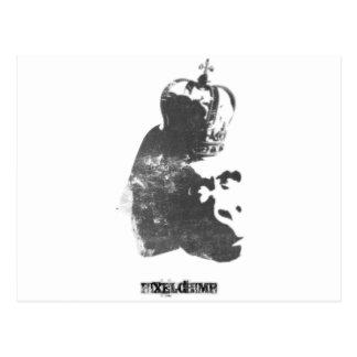 Stencil Spray King Monkey Postcard
