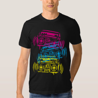 Stenciled Boomboxes T-shirt