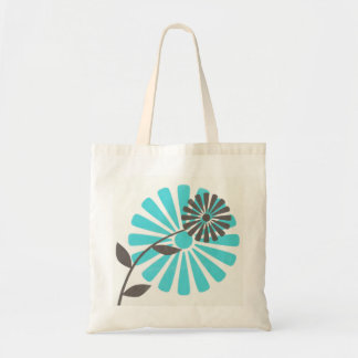 Stenciled Flower Tote