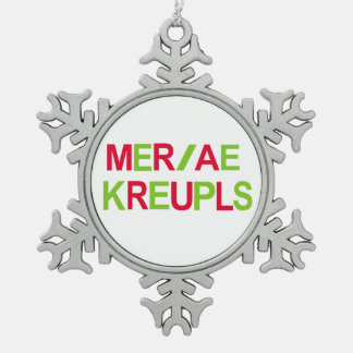 Steno Court Reporting Christmas Holiday Pewter Snowflake Ornament