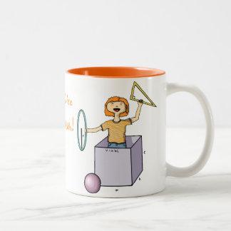 Step 1: Coffee, Step 2: Math Two-Tone Coffee Mug