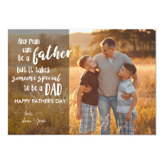 Step Dad Father's Day Photocard Card