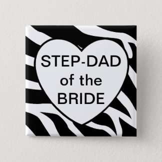 Step Dad Of The Bride 2 Inch Square Button