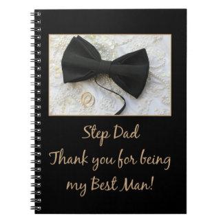 Step Dad  thank you best man - invitation Spiral Notebooks