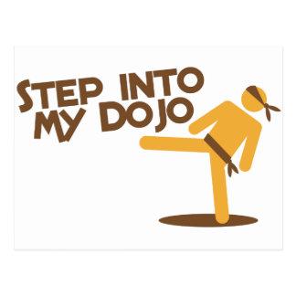 step into my dojo katate fighting design post card
