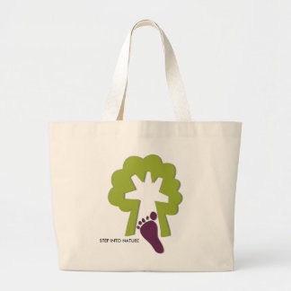 STEP INTO NATURE LARGE TOTE BAG