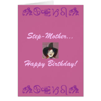 Step-Mother..., Happy Birthday! Card