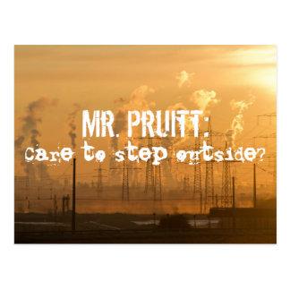 Step Outside, Mr. Pruitt Postcard