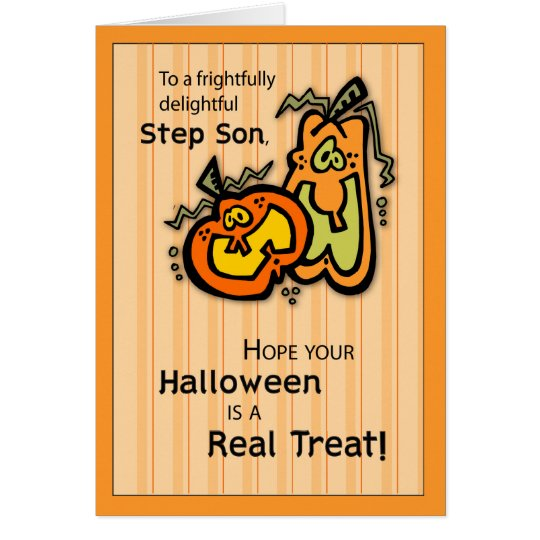 Step Son Pumpkins Halloween Card