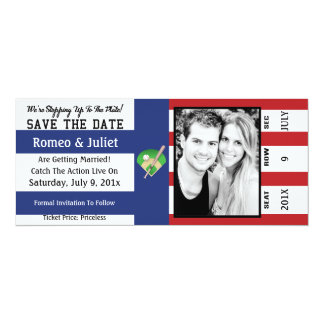 Step To The Plate Baseball Wedding Save The Date Card